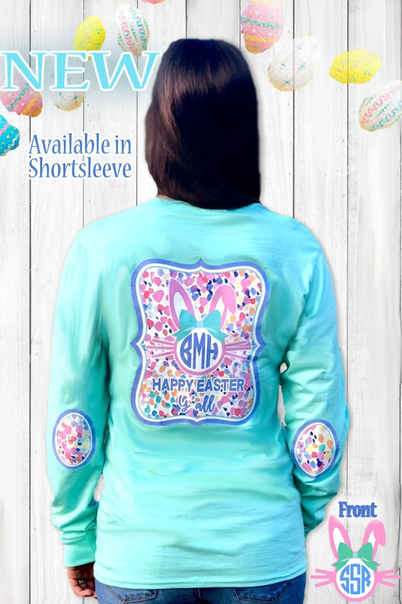 Hopping Around Monogram Elbow Patch Shirt: Mint