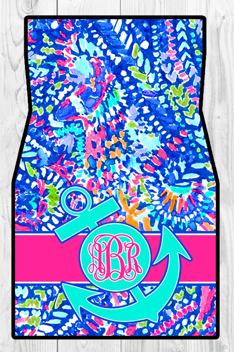 Monogram Car Mats: Under the Sea