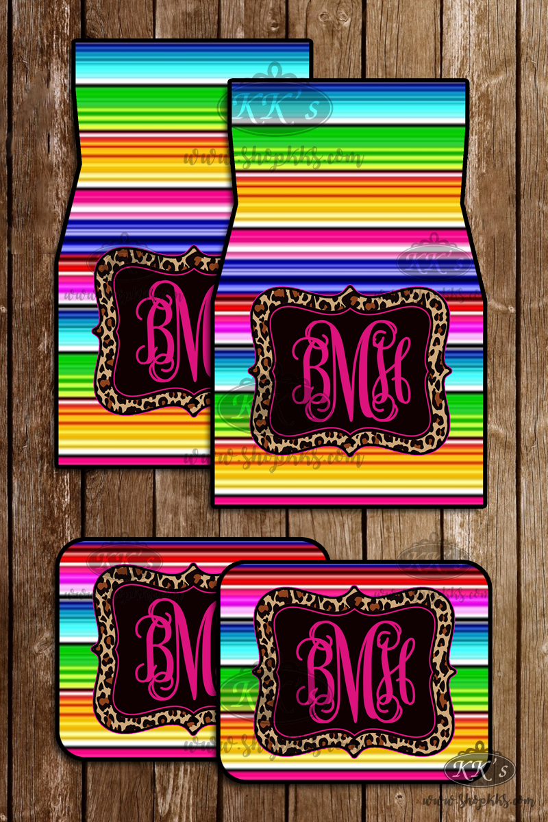 Monogram Car Mats: Serape