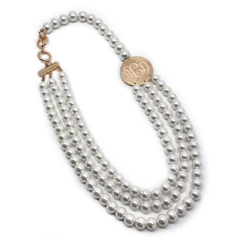 Emmie: Triple Pearl Necklace