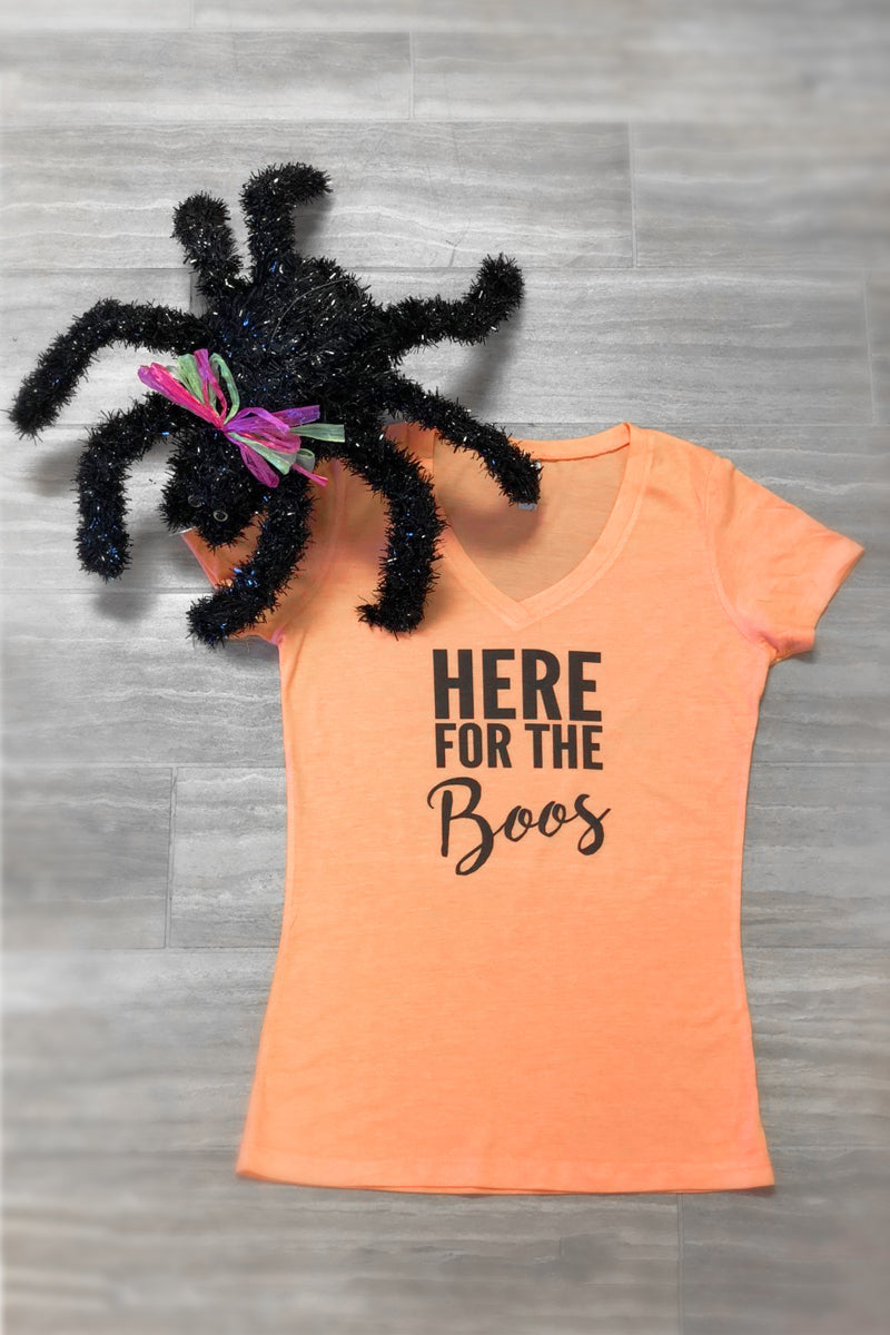 Here For The BOOS: Halloween Tee