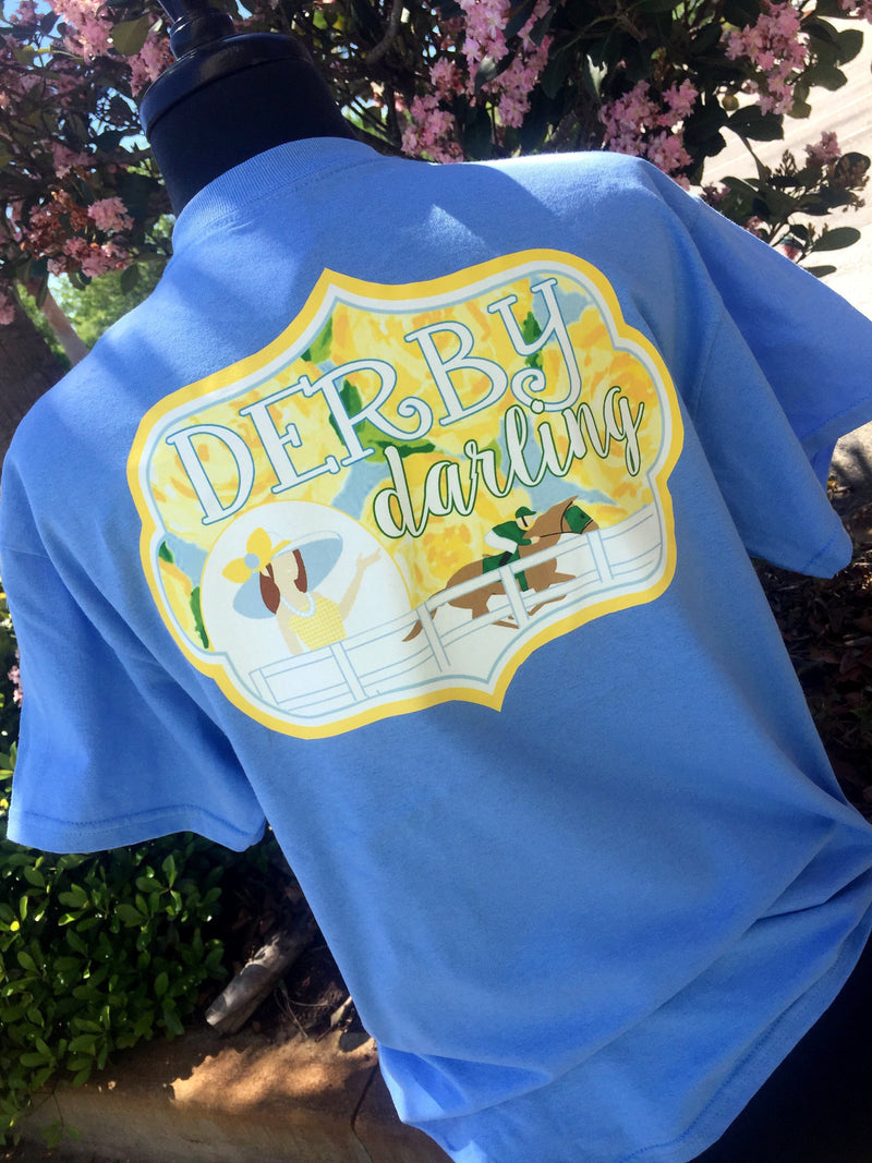 Derby Darling Short Sleeve Shirt: Carolina Blue/Yellow First Impressions