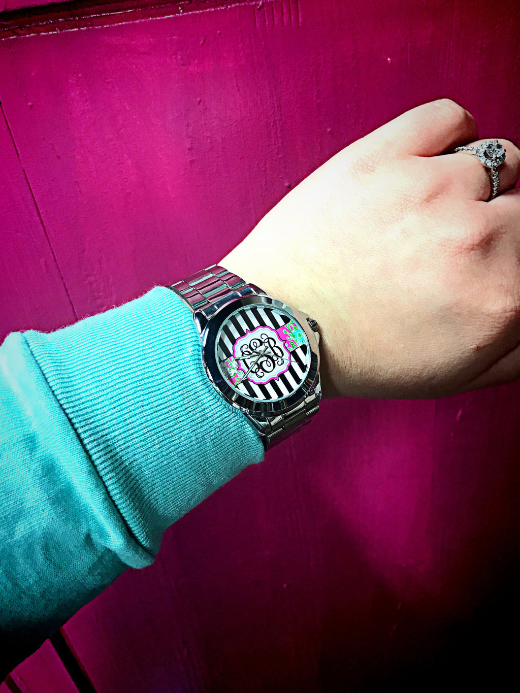 Striped Perfection Monogram Watch