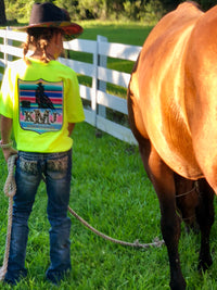 NFR Back Number Serape Barrel Racer Tee