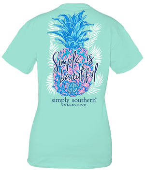 YOUTH Simply Southern Short Sleeve Tshirt: Kind/Surf