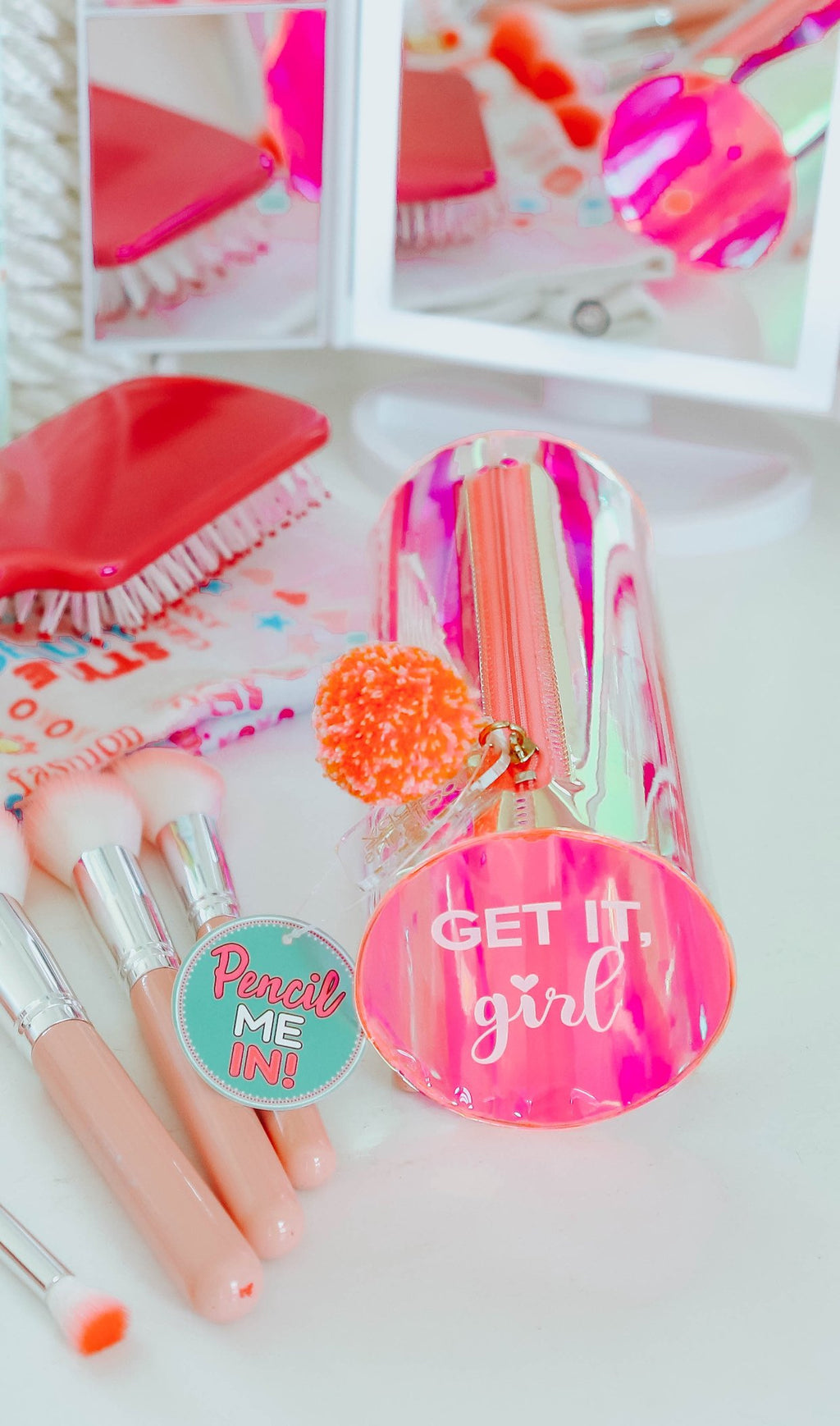 Get It Girl: Iridescent Pencil Case