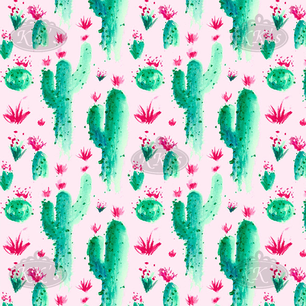 Custom Shower Accessories: Pink Cactus