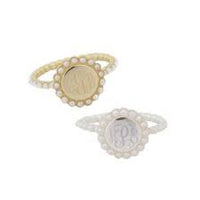 Perfectly Pearl Monogram Ring