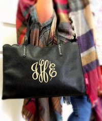 Scalloped Monogram Handbags