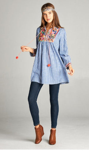 That's so 70's Tunic: Blue/Multi