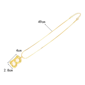 Golden Bamboo Initial Necklace