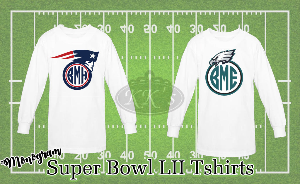 Superbowl LII: Monogram Shirts PATRIOTS vs EAGLES