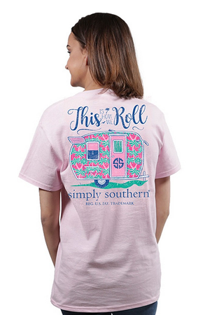 Simply Southern Short Sleeve Tshirt: How We Roll/ Lulu
