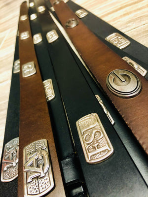 Leather Game Day Concho Belts