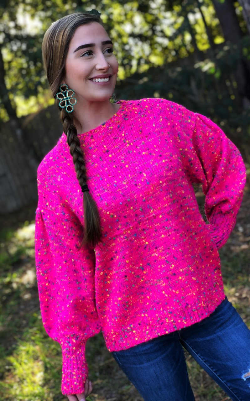 Clueless: Oversized Confetti Sweater