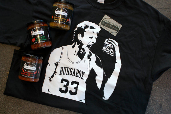Holiday Pack: $25 Gift Card + BurgaBox T-Shirt + Salsa Trio (Save more!!!)