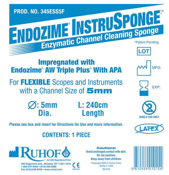 Endozime® Instrusponge For Flexible Instruments - Instrument & Scope Reprocessing