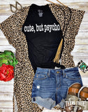 Short Sleeve Leopard Cardigan