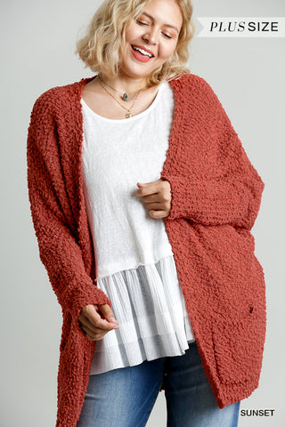Sunset Popcorn Cardigan Plus
