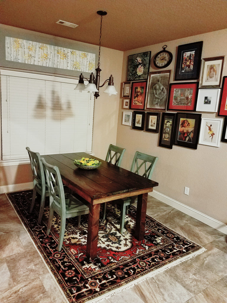 Dining Room with an Oriental Rug