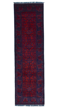 Afghan Rug Hand Knotted Oriental Rug 2'8X9'6 Rug Runner Khal Mohammadi