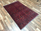 Afghan Rug Hand Knotted Oriental Rug Small Khal Mohammadi Oriental Rug 3'10X6'2