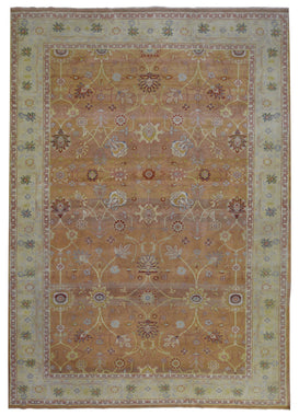 Egypt Hand Knotted Oriental Rug Fine Mahal Large Area Rug 10'1x13'5