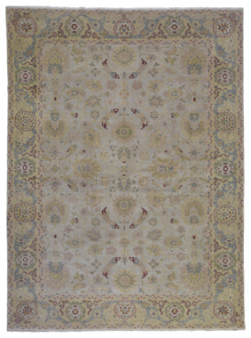 Egypt Hand Knotted Oriental Rug Fine Oriental Agra Rug 9'3X12'3