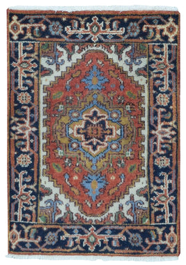 Fine Rug Collection Hand Knotted Oriental Rug Fine Serapi Oriental Area Rug 2'X3'