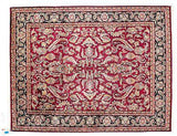 Indian Rug Hand Knotted Oriental Rug 7'9x9 / Red / Wool Indo Mashad 7'9x9 Oriental Persian Rug Design