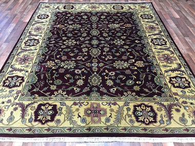 Indian Rug Hand Knotted Oriental Rug 8X10 Very Fine Oriental Tabriz Rug