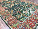 Indian Rug Hand Knotted Oriental Rug Agra Design Large Oriental Rug 8'10X12'