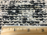 Indian Rug Hand Knotted Oriental Rug Black and White Sari Silk Modern Large Rug 8'X9'10
