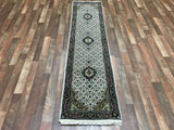 Indian Rug Hand Knotted Oriental Rug Blue/Mahi Tabriz Oriental Runner 2X8