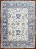 Indian Rug Hand Knotted Oriental Rug Blue-Oushak Large Oriental Rug 10'2X14'1