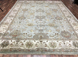 Indian Rug Hand Knotted Oriental Rug Extra Large Rug Blue-Oushak 10'2X13'9