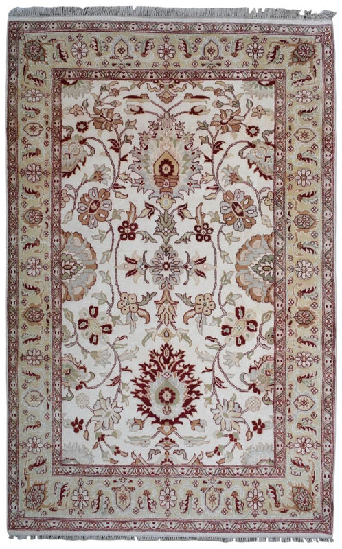 Indian Rug Hand Knotted Oriental Rug Fine Agra Rug 6'1X9'8