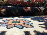 Indian Rug Hand Knotted Oriental Rug Fine Mahal 6'2X9 Oriental Rug
