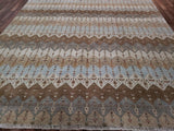 Indian Rug Hand Knotted Oriental Rug Fine Modern Oriental Area Rug 8'X8'2