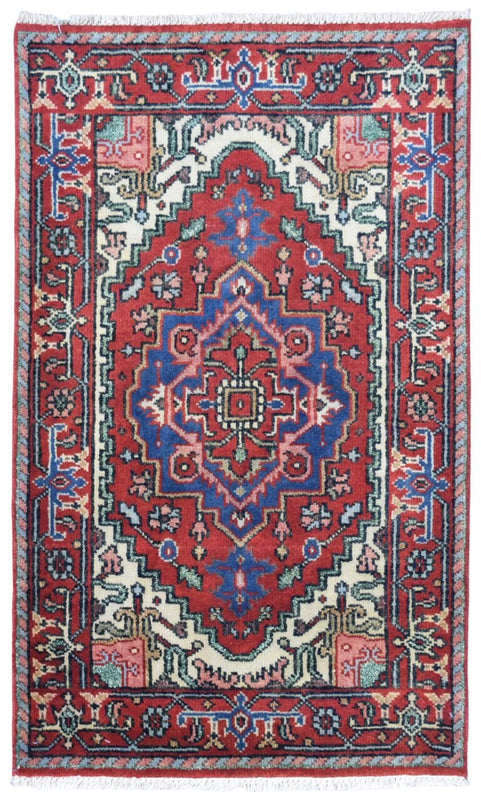 Indian Rug Hand Knotted Oriental Rug Fine Oriental Rug Serapi 2X3