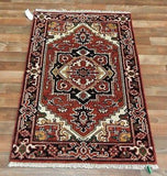 Indian Rug Hand Knotted Oriental Rug Fine Oriental Serapi 2X3 Oriental Rug