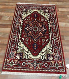 Indian Rug Hand Knotted Oriental Rug Fine Oriental Serapi Rug 2'5X4