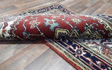 Indian Rug Hand Knotted Oriental Rug Fine Oriental Serapi Rug 3X5