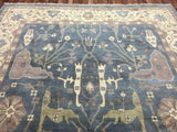 Indian Rug Hand Knotted Oriental Rug Fine Oushak 10'1X13'1 Oriental Rug