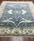 Indian Rug Hand Knotted Oriental Rug Fine Oushak Oriental Rug 8'3X9'1