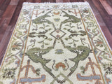 Indian Rug Hand Knotted Oriental Rug Fine Oushak Oriental Runner Rug 2'7X10'