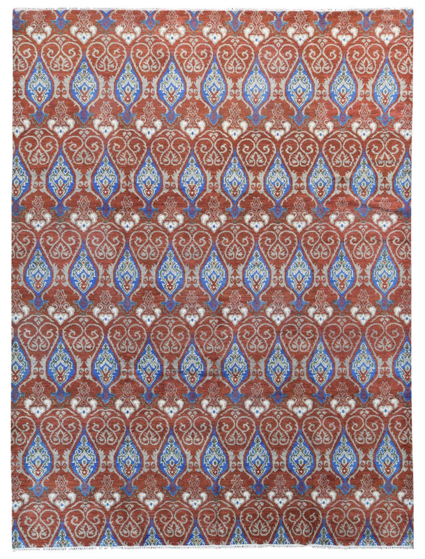 Indian Rug Hand Knotted Oriental Rug Fine Oushak Turkish Knot Large Oriental Rug 9'1X12'