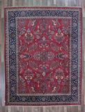Indian Rug Hand Knotted Oriental Rug Fine Sarouk Rug 8'X10'