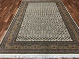 Indian Rug Hand Knotted Oriental Rug Herati Oriental Rug 6'5X10'