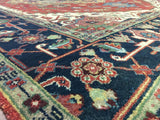 Indian Rug Hand Knotted Oriental Rug Heriz Large Oriental Rug 8'2X9'11